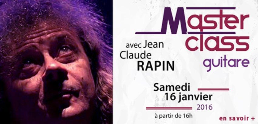 Masterclass guitare avec Jean-Claude Rapin