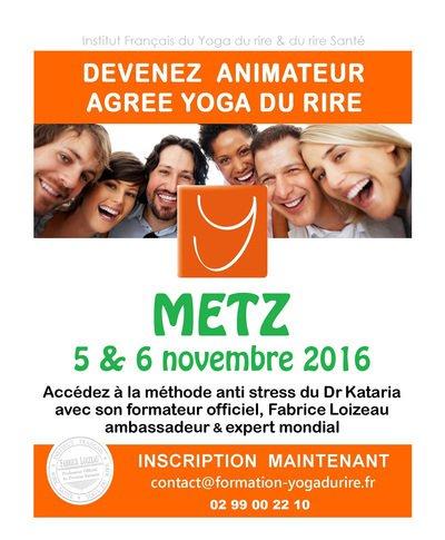 Devenez ANIMATEUR agréé de YOGA DU RIRE à Metz