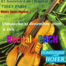 Dominique Hofer Récital BACH