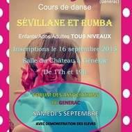 COURS SEVILLANE RUMBA à GENERAC association BAILE DE ZURCOS