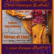 Cours de danses indiennes 2016-2017 à Nîmes et Uzès